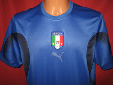 Italy home shirt years 2004-2006 size XL