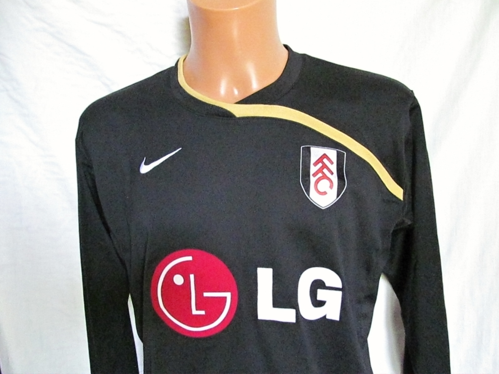 Fulham Football Club FFC away football shirt 2009-10 size M