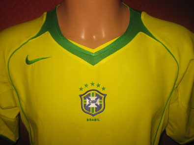 Brasil home shirt years 2004-2006 size S