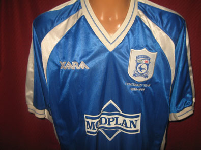 Cardiff City home 1999 centenary year size XL #FV029