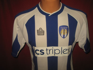 Colchester United home 2004-2005 XS #1344