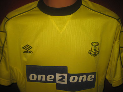 Everton FC away 3rd shirt 1999-2000 size L