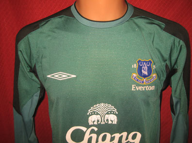 Everton FC goalkeeper football shirt 2005-2006 size S
