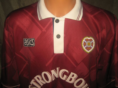 Hearts Midlothian FC home shirt seasons 1993-1995 XXL #fv233