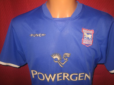 Ipswich Town FC home football shirt 2003-2005 size S