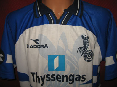 MSV Duisburg home shirt 1998-1999 XXL ALL TEAM SIGNED #fv106 - Click Image to Close