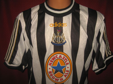 Newcastle U FC home football shirt 1997-1999 size L #FV217