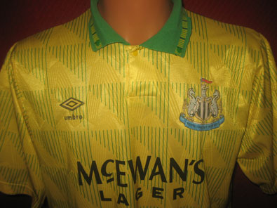 Newcastle U FC away football shirt 1991-1993 size L #FV269