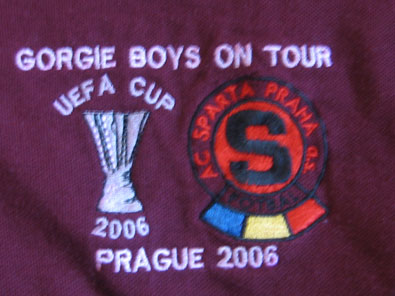 "Sparta Praha polo shirt 2006 UEFA Cup ""GORGIE BOYS ON TOUR"" sz M"