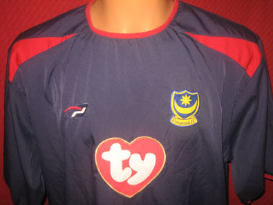 Portsmouth FC away football shirt 2003-2005 size XL #FV313