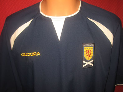 Scotland home shirt years 2003-2005 size XL