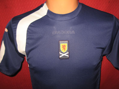 Scotland home shirt years 2005-2007 size JL