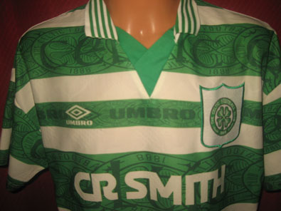 Celtic Glasgow home shirt seasons 1995-1997 size L #fv315