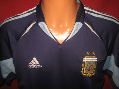 Argentina away shirt years 2004-2005 size L