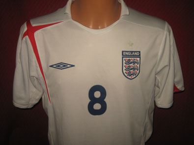 England home shirt years 2005-2007 Lampard #8 size L