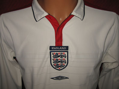 England home long sleeved shirt years 2003-2005 size S