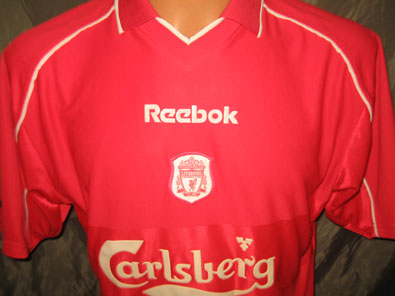 Liverpool FC home football shirt 2000-2002 size M