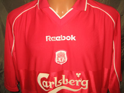 Liverpool FC home football shirt 2000-2002 size XXL