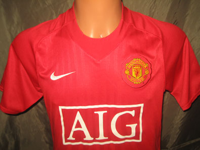Manchester United home football shirt 2007-2009 size S #FV093