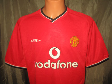 Manchester United home football shirt 2000-2002 size L