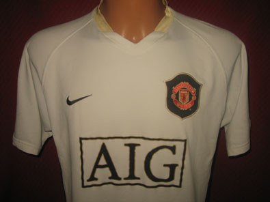 Manchester United away personalized shirt 2006-08 M #FV306