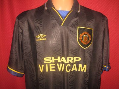 Manchester United away football shirt 1993-1995 XXL #FV178