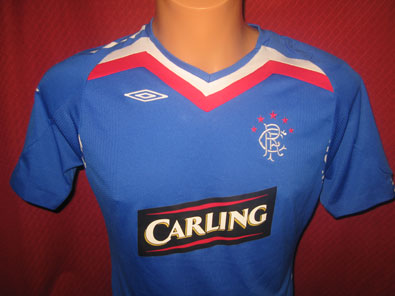 Glasgow Rangers home shirt season 2007-2008 size S