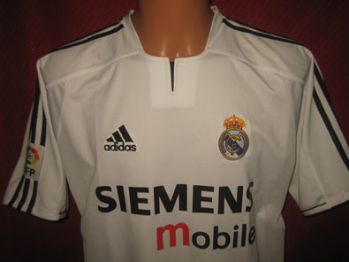 Real Madrid home shirt season 2003-2004 size XL Beckham #fv209