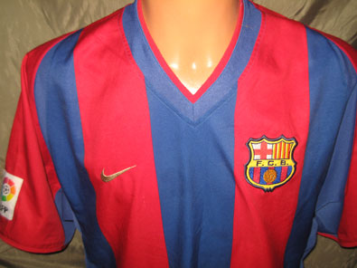 Barcelona FC home shirt season 2002-2003 size L