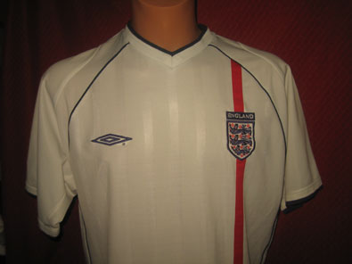 England home shirt years 2001-2003 size L