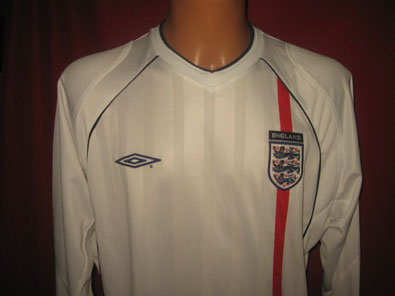 England home long slleved shirt years 2001-2003 size L